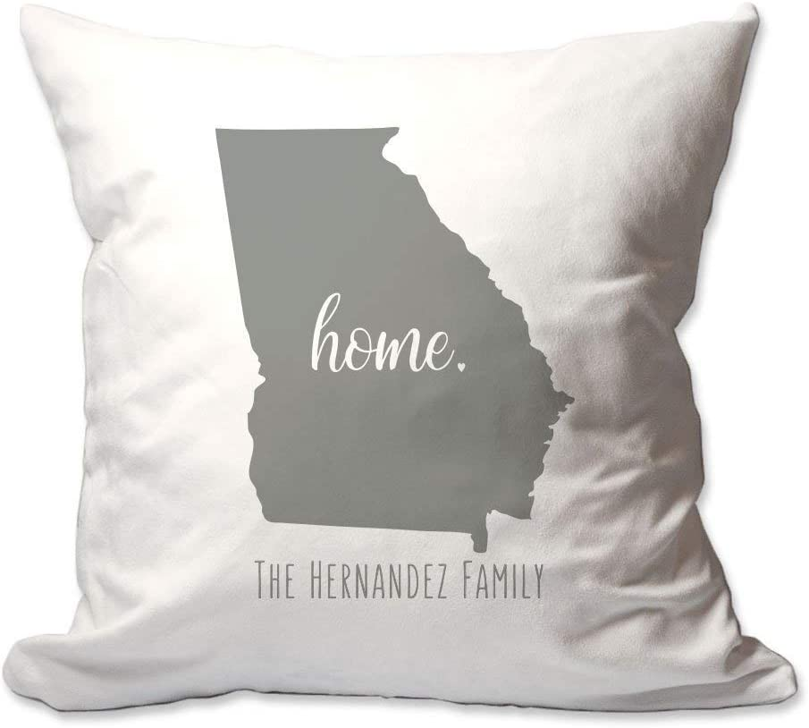 Pattern Pop Personalized State of Georgia Home Throw Pillow Cover - 17X17 Throw Pillow Cover (NO Insert) - Decorative Throw Pillow Cover - Soft Polyester