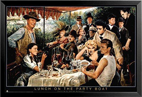 buyartforless FRAMED Lunch on the Party Boat by George Bunga