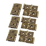 eDealMax 46mmx54mm Style rétro Double Effet paravents Charnière Bronze 6pcs Tone