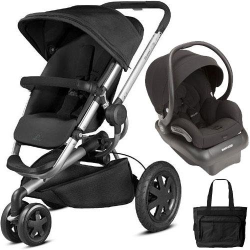 (Quinny - Buzz Xtra Travel System with Bag - Black)