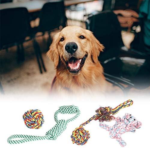 ホリデーギフト おもちゃの犬は、インタラクティブ一口耐性モル犬のおもちゃの楽しみの訓練のために、環境にやさしい綿ロープボール犬のおもちゃを追加しないでください。 減圧の喜び (Color : Blue, Size : M)