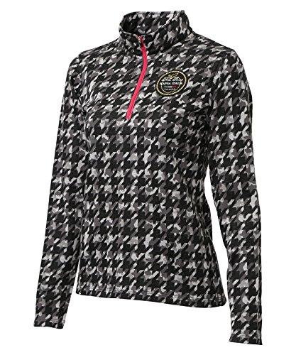 (カッパゴルフ) Kappa Golf カモフラ千鳥ジャガードジップアップシャツ