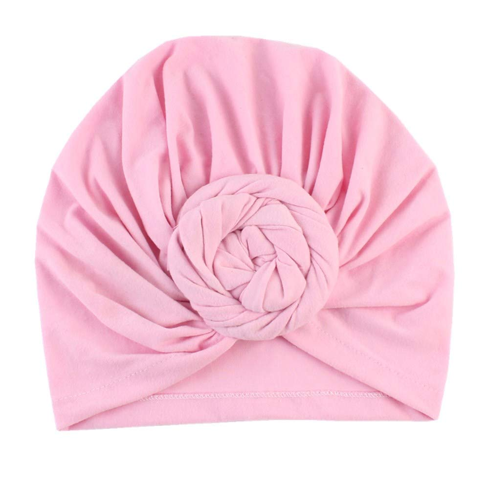 puseky Baby Girls India Hats Cotton Tie Knot Beanie Cap Soft Warm Headwrap Turban