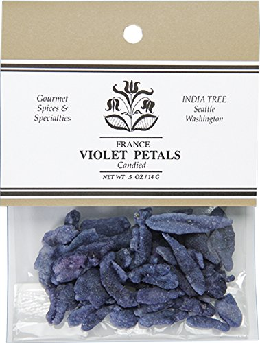 Price comparison product image India Tree Candied Violet Petals,  0.5 Ounce