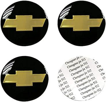 DIY1234 4PCS 65mm//2.56inch Auto Car Sticker Wheel Center Hub Cap Logo Aluminum fit for Chevrolet