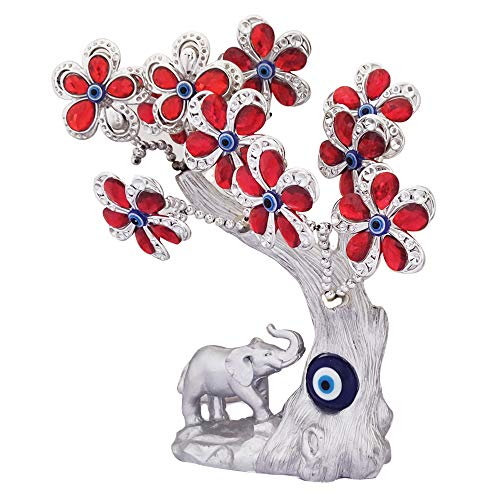 Divya Mantra Decorative Evil Eye Tree Amulet for Good Luck Charm Protection Feng Shui Fortune Showpiece ()