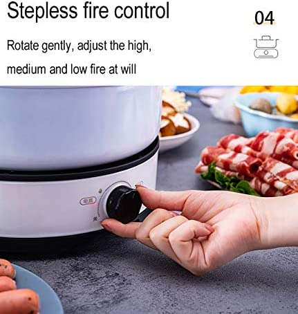 Marmite électrique multifonctionnelle anti-adhésive amovible et lavable