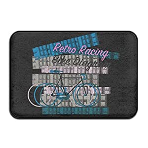 Retro Racing Bike diagramdoormat–Felpudo de entrada (Floor Mat Alfombra para interiores/exteriores/puerta delantera/baño alfombrillas de goma antideslizante