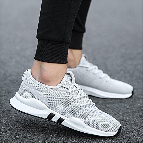 Schnürschuhe Sneaker Schuhe Grau Mesh CAGAYA Herren Atmungsaktive Sneaker Ic6UH