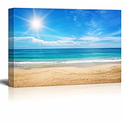 Seascape and Beach Under Blue Sunny Sky Home...16