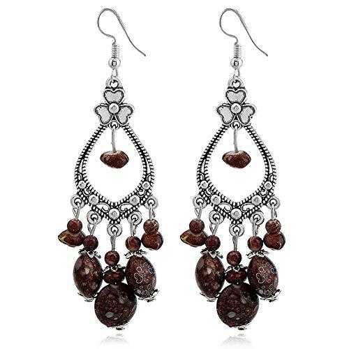 Bohemian Earrings Vintage Earrings Boho Jewelry Earrings for Women Chocolate XF01