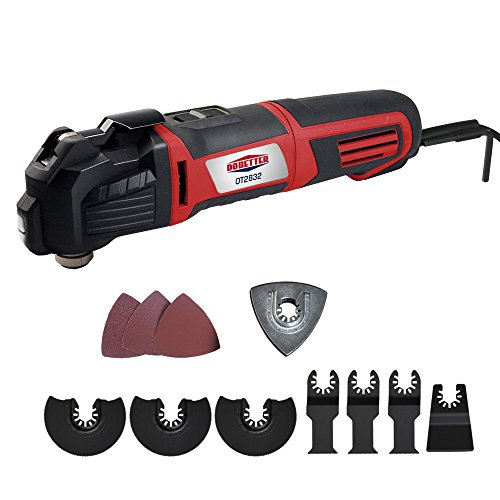 Dobetter OT2832 2.8-Amp Variable Speed Oscillating Multi-Tool Kit, with LED Work Light and Tote Bag