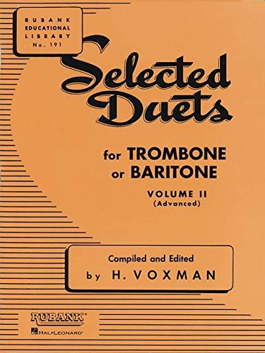 Selected Duets Trombone Or Baritone Vol2 (Rubank Educational Library)