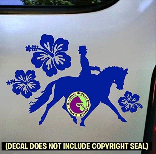 Hibiscus Flowers Dressage Vinyl Decal Sticker E