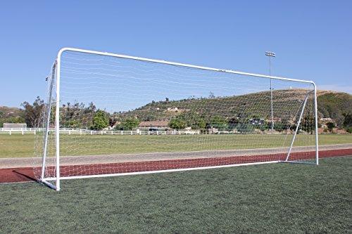 24x8 Soccer Goal, Official Regulation Round Corner Face, (1) 3mm White Net, Portable, 2