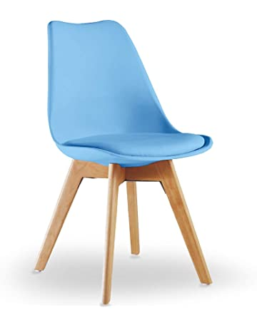 PN HomewaresR Lorenzo Tulip Chair Plastic Wood DSW Retro Dining Chairs White Black Grey Red