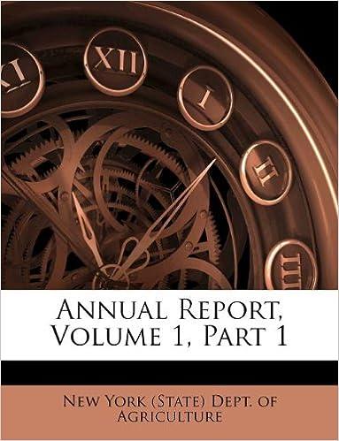 Annual Report, Volume 1, Part 1