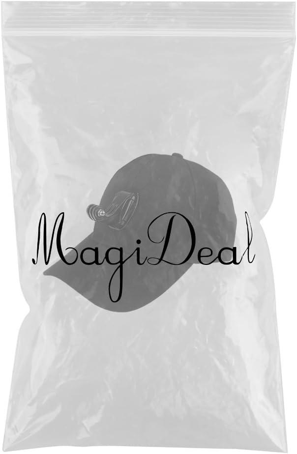 4 MagiDeal Casquette R/églable avec Support De Montage pour Cam/éra Gopro Hero 3 3
