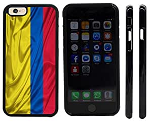 Rikki KnightTM Colombia Flag Design iPhone 6 Case Cover (Black Rubber with front bumper protection) for Apple iPhone 6
