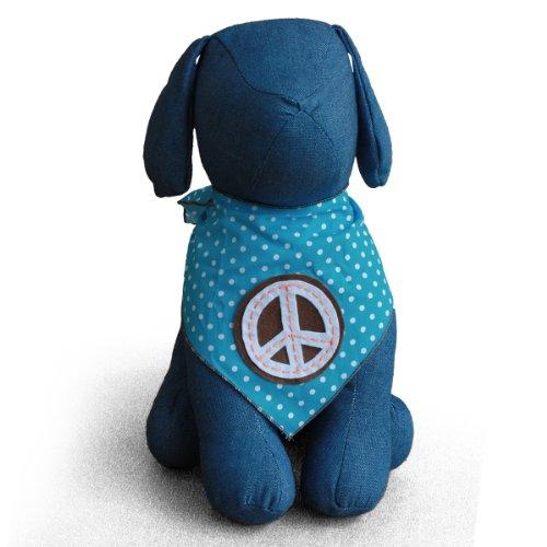 Image of Peace Sign Dog Bandana Kerchief (Large)
