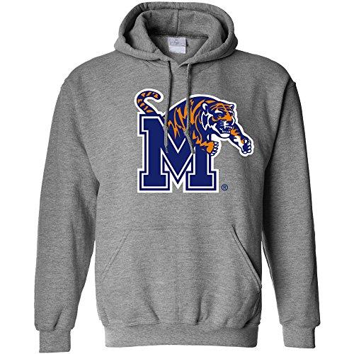NCAA Memphis Tigers Long Sleeve Hoodie, X-Large, Athletic Heather Tiger Athletic Sweatshirt