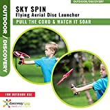 Discovery Toys Sky Spin Flying Aerial Disc Launcher