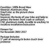 Topteng Motorcycle Rear Passenger Grab Handle Bars, CNC Passenger Rear Seat Handle Grab Bar Hand Rail fits for Kawasaki Z650 2017-2018
