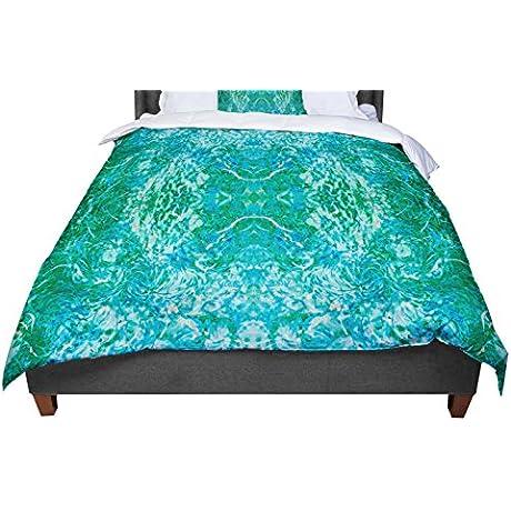 KESS InHouse Nikposium Eden Teal Green Twin Comforter 68 X 88