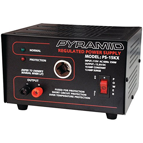 pyramid-ps15kx-10-amp-138-volt-power-supply-with-cigarette-lighter-adapter