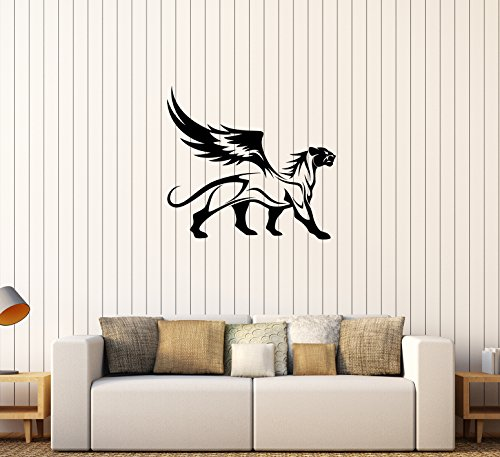 - Wall Decal Panther Leopard Jaguar Wings Animal Wild Cat Griffin Vinyl Sticker Unique Gift (ed614)