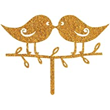 BonNoces Gold Love Birds Sweet love Wedding Cake Toppers Acrylic Cake Topper Cake Decorating supplies party decoration cupcake stand
