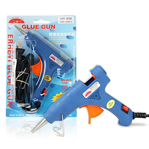 Hot Glue Gun Mini Size for DIY Crafts and Quick Repairs in Home or Office with 10 Glue Sticks OUBEI