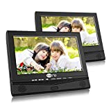 CUTRIP 10.1 Inch Dual Screen Portable DVD Player for Car with Car Headrest Mount Holder