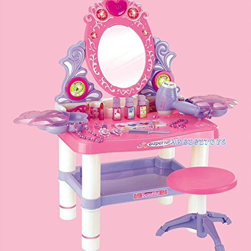 Anysell88 Girls Up Beauty Toy Kids Dressing Table Make Vanity Desk -