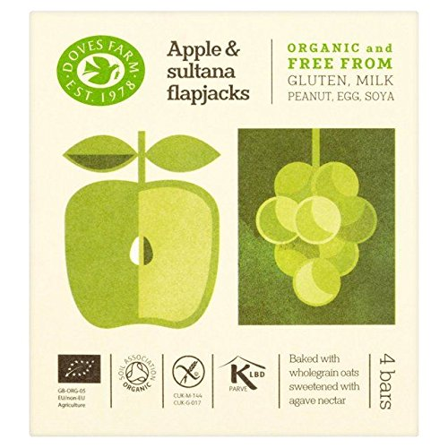 Price comparison product image Doves Farm GF Apple & Sultana Organic Flapjacks - 4 x 35g
