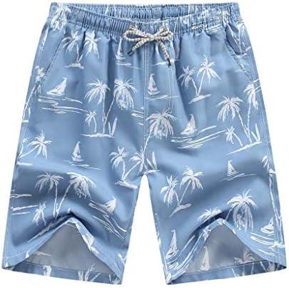 Octayi Mens Swimming Beach Boardshort Athletic Casual Quick Dry Swim Trunks