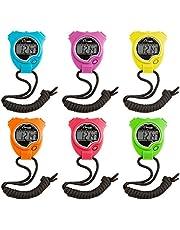 Champion Sports Juego de cronómetro: Resistente al Agua, Reloj Digital de Mano, cronómetros Deportivos con Pantalla Grande para niños o Entrenadores, 6 Unidades