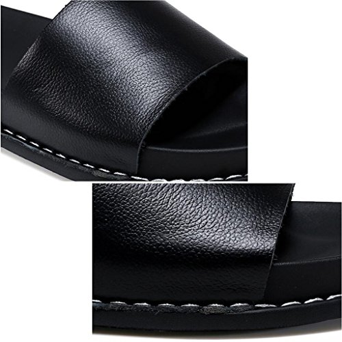 Black EU36 Pantoufles 5 Sandales Femmes Cool Pantoufle Marée Mode UK3 Blanc Couleur Xy® À Taille Plat D'été CN35 L'extérieur Sortie Talon R5qnRUax