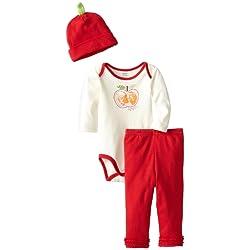 Gerber Baby Girls' 3 Piece Onesies Brand Bodysuit Pants and Cap Set