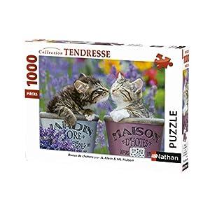 Nathan 4005556876242 Puzzle Per Adulti Gattino Animali 1000 Pezzi