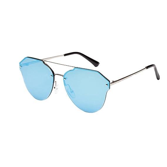 Logobeing Gafas de Sol Mujer Hombre Metal Marco Redondas Espejo Polarizadas Gafas de Sol de Aviador UV Gafas (A): Amazon.es: Ropa y accesorios