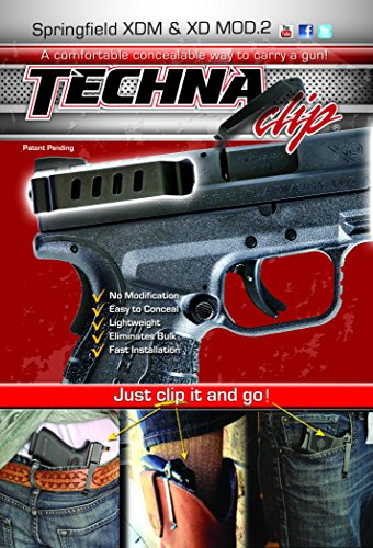 Techna Clip - Springfield Armory MOD.2 or XD(M) .9MM .40 .45 - Conceal Carry Belt Clip (Ambidextrous) (Xd 2 Mod Accessories)