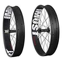 IMUST 26er Carbon Fat Bike Wheels Clincher Compatible Tubeless Rim Width 90mm 32/32 Holes Shimano 10/11 Speed