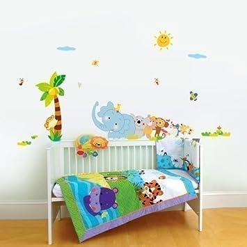 Perfekt Walplus Elefant Tier Reihe Kinderzimmer Wand Aufkleber Papier Mauerkunst  Sticker Kinder Dekoration