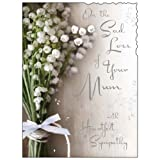 Sympathy Card (JJ4345) Sad Loss Of Your Mum - Posy - Silver Embossed