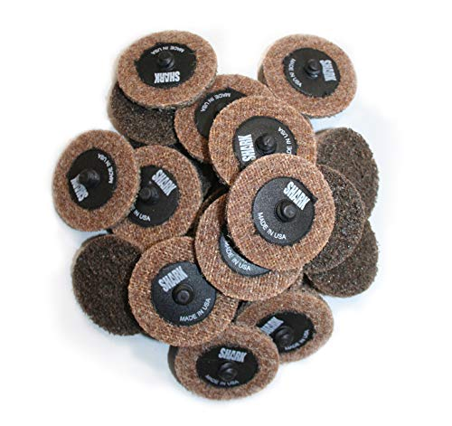 (Shark Shark 13062 2-Inch Quick Change Surface Conditioning Discs, Brown, Pack-25, Grit-Coarse)