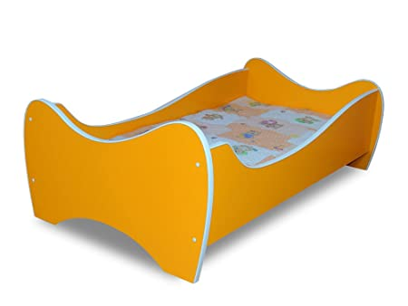 Bed Toddler Mattress 160 X 80 Cm Orange Toddler Bed