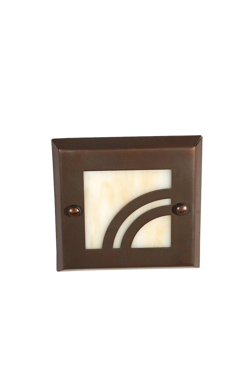 Highpoint Deck Lighting HP-740R-MBR Apex 12-Volt Recessed Outdoor Deck and Step Light Fixture, Antique Bronze