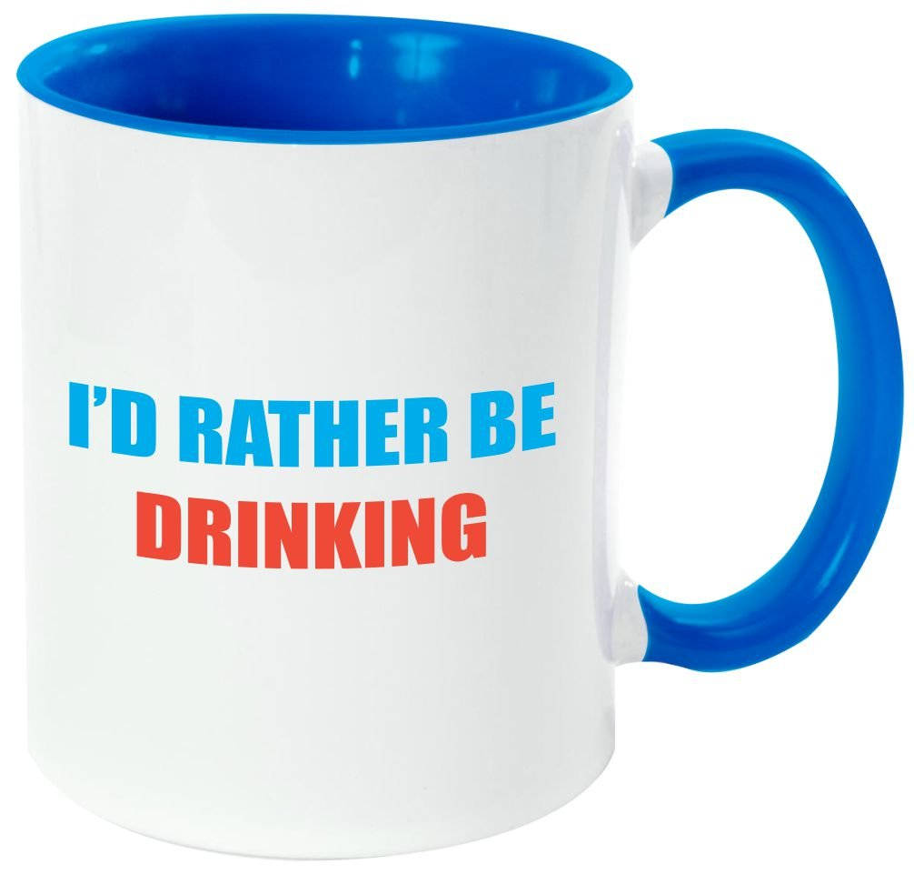 "Rikki Knight Funny Saying ""ワインは定数Proof "" – 面白い引用デザイン11オンスセラミックコーヒーマグカップ Light Blue DIS-mugs-LTBLUE-3953 B06XWJ1GTM Light Blue|RatherbeDrinking RatherbeDrinking Light Blue"