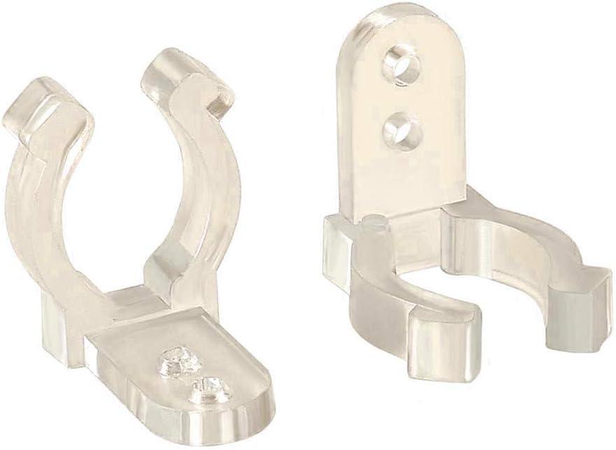300 Piezas Clip de Fijación de Silicona, 8/10 / 12mm Clip de Sujetador de Silicona Clips Fijadores de Montaje para Fijación LED Franja Luces
